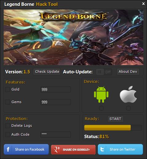 Legend Borne Hack Tool