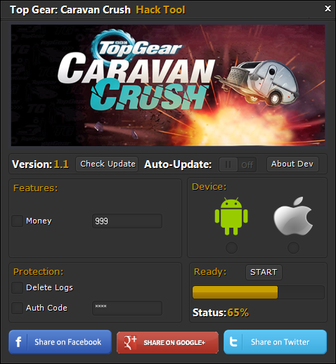 Top Gear Caravan Crush Hack Tool
