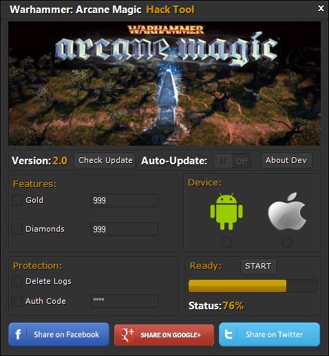 Warhammer Arcane Magic Hack Tool