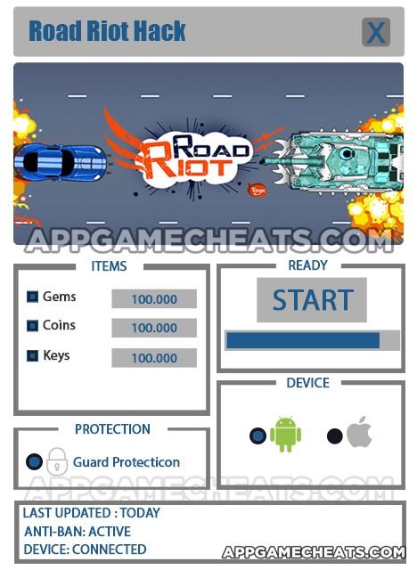 road-riot-cheats-hack-gems-coins-keys