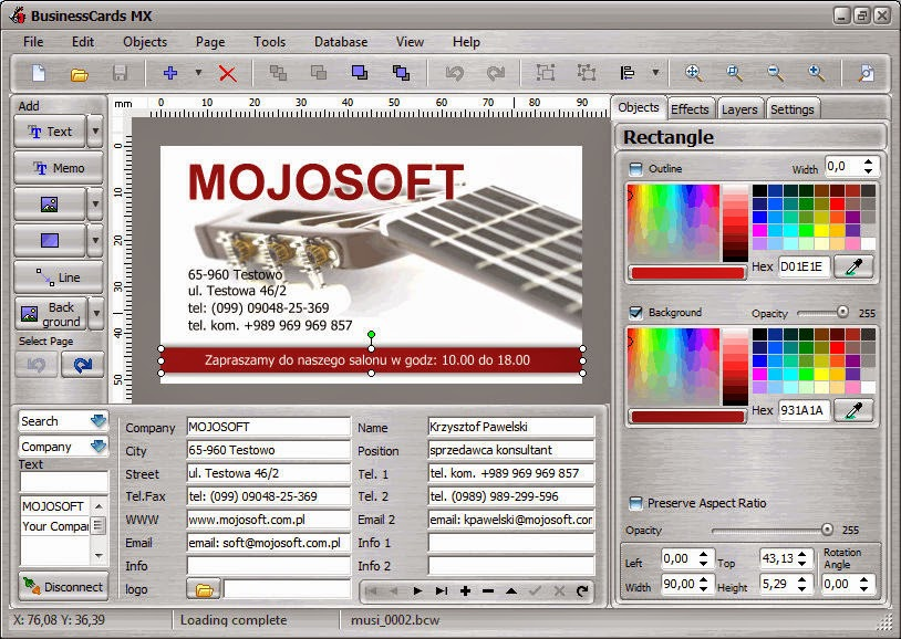2015 mojosoft businesscards mx v4 93 full serial key 2015 Mojosoft BusinessCards MX v4.93 Full + Serial Key