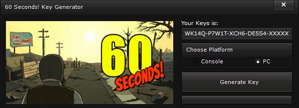 60 seconds key generator free activation code 2015 60 Seconds! Key Generator – FREE Activation Code 2015