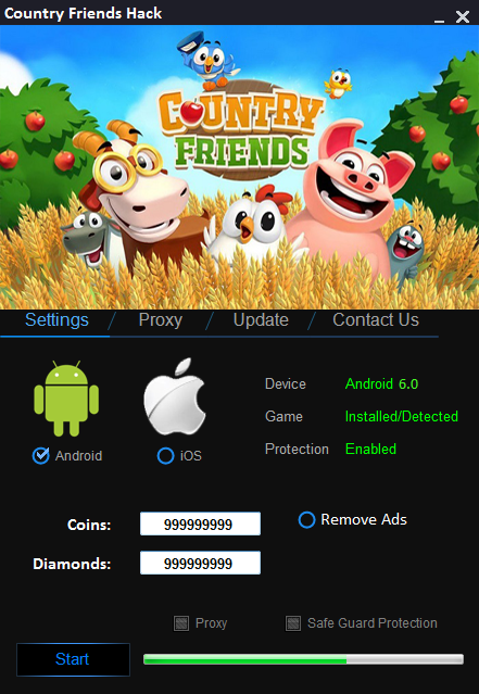 Country Friends Hack