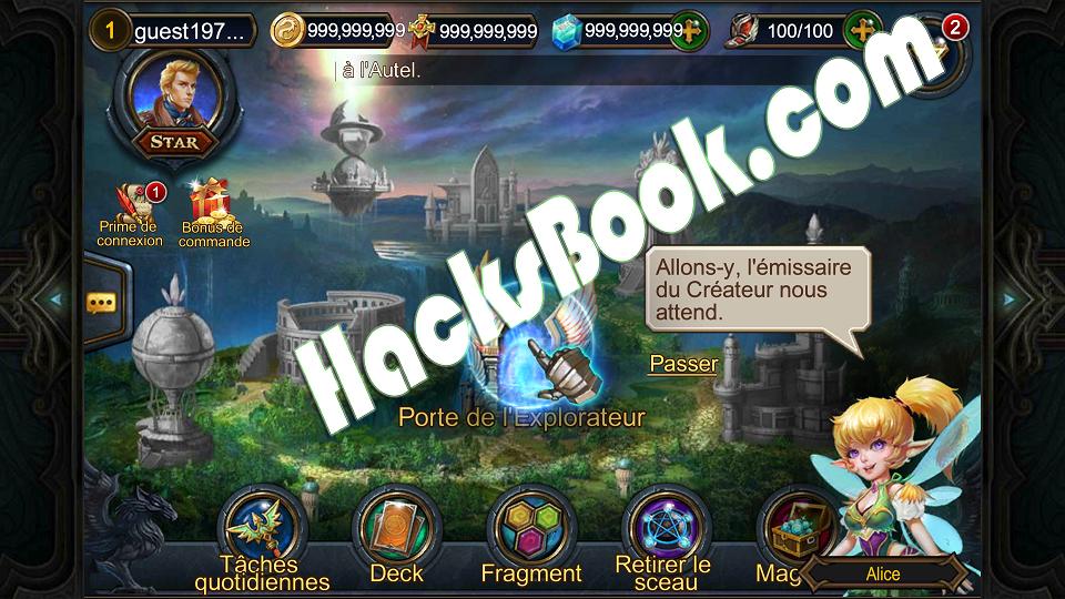 Deck Heroes Duel des Ténèbres Hacked Outil de piratage
