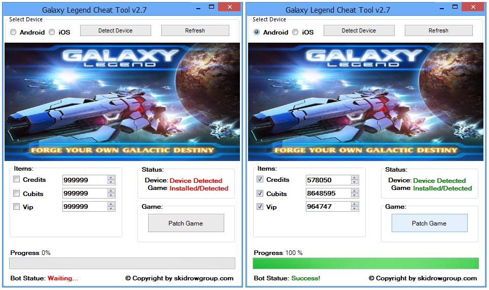 Galaxy Legend Cheat Tool