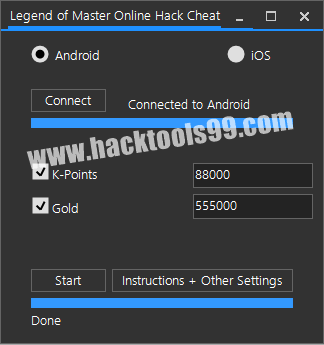 Legend of Master Online Cheat Tool