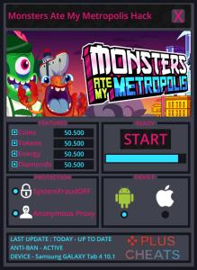 Monsters Ate My Metropolis Hack Tool