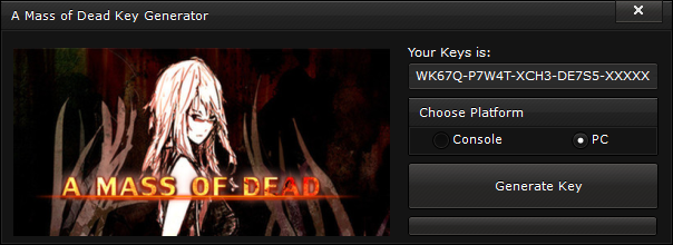 a mass of dead key generator free activation code 2015 A Mass of Dead Key Generator – FREE Activation Code 2015