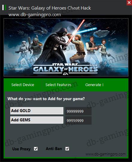 Star Wars: Galaxy of Heroes Hack Cheats Triche