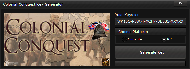 colonial conquest key generator free activation code 2015 Colonial Conquest Key Generator – FREE Activation Code 2015