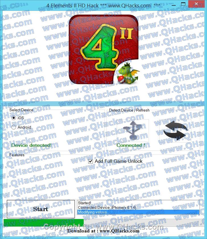 4 Elements II HD hacks