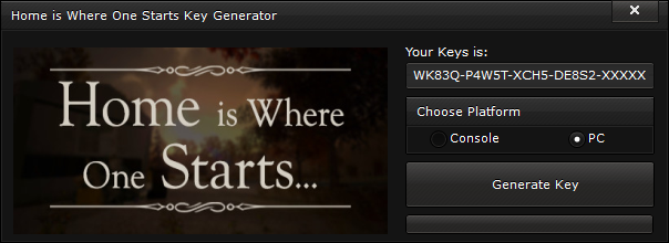 home is where one starts key generator free activation code 2015 Home is Where One Starts Key Generator – FREE Activation Code 2015