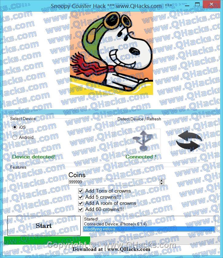 Snoopy Coaster hacks