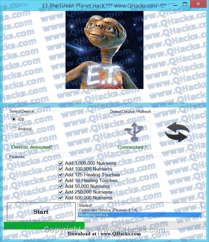 ET The Green Planet hacks