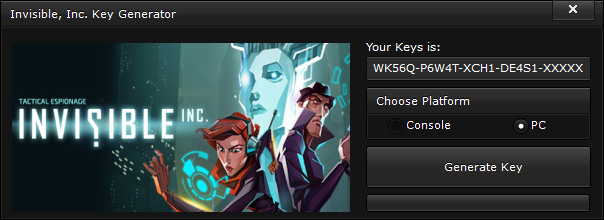 invisible inc key generator free activation code 2015 Invisible, Inc. Key Generator – FREE Activation Code 2015