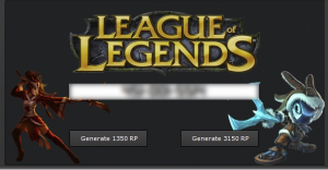 League of Legends Riot Points Generator Cheat tool