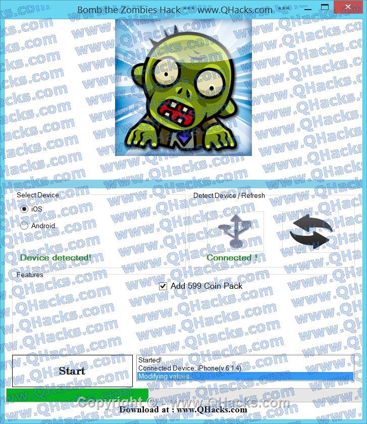 Bomb the Zombies hacks