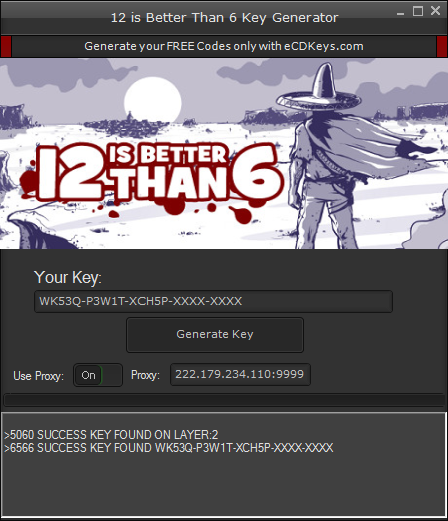 12 is Better Than 6 cd-key