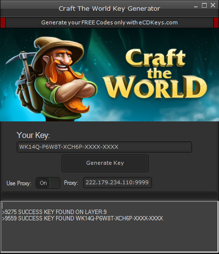 Craft The World cd-key