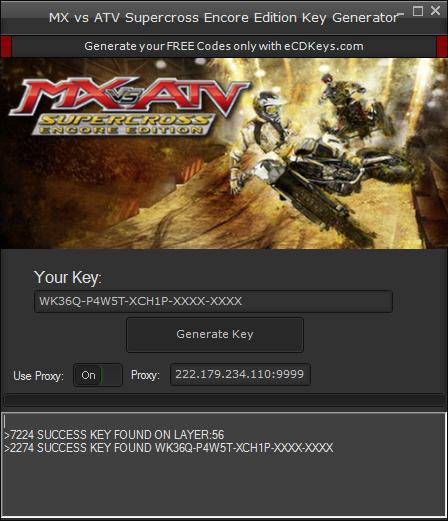 MX vs ATV Supercross Encore Edition cd-key