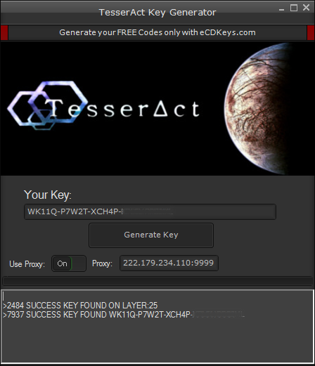 TesserAct cd-key
