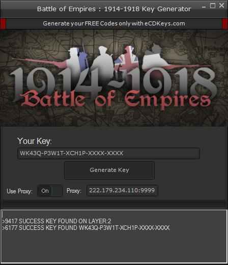 Battle of Empires : 1914-1918 cd-key