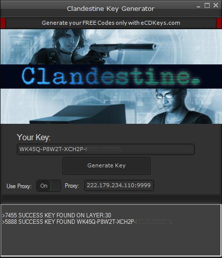 Clandestine cd-key
