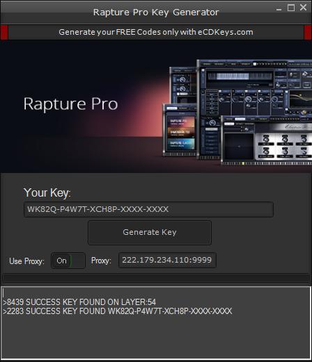 Rapture Pro cd-key