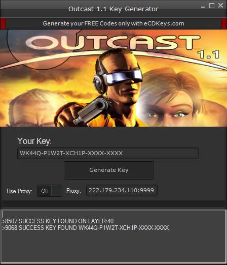 Outcast 1.1 cd-key