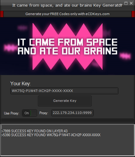 It came from space, and ate our brains cd-key