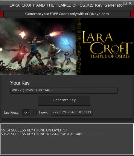 Lara Croft and the Temple of Osiris cd-key