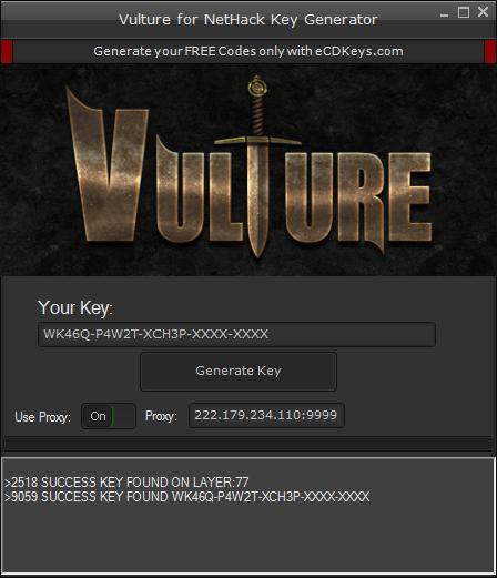 Vulture for NetHack cd-key