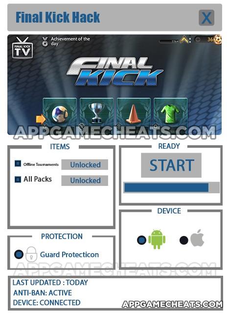 final-kick-cheats-hack-offline-tournaments-all-packs