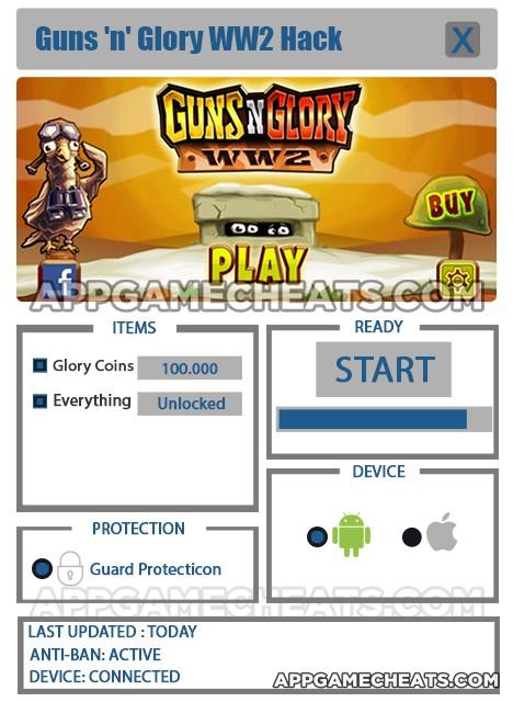 guns-n-glory-ww2-cheats-hack-glory-coins-everything-unlocked