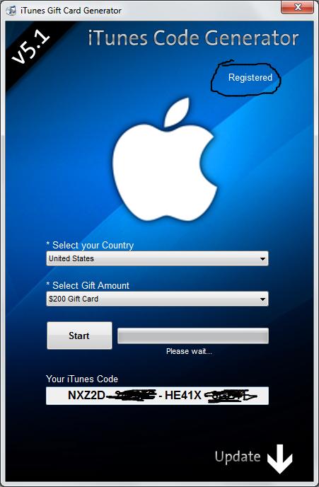 Free iTunes Gift Code Generator