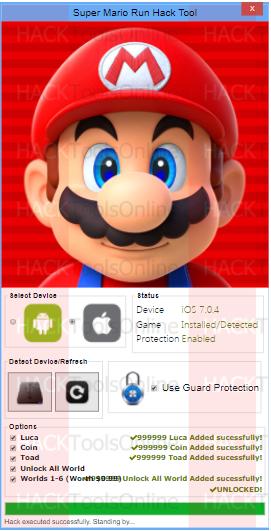 Super Mario Run hack tool iOS Android