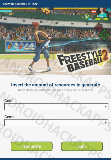 Freestyle Baseball 2 Hack APK Gold and Gems