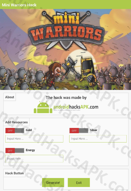 Mini Warriors Hack APK Gold, Silver and Energy