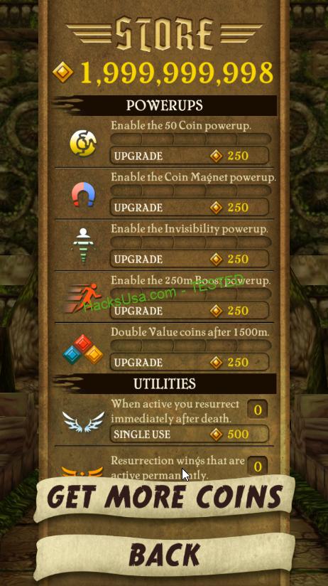 MOD Temple Run Unlimited Money - VER. 1.8.0