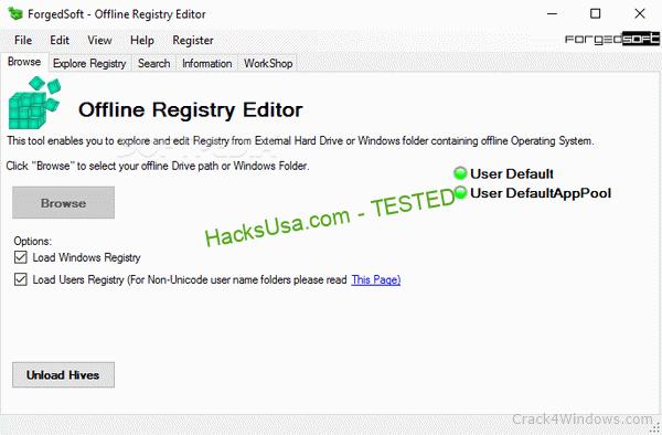 Offline Registry Editor 1.128 Activator Full Version